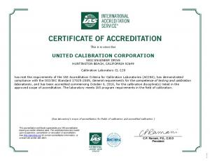 UNITED CALIBRATION CORPORATION 5802 ENGINEER DRIVE HUNTINGTON BEACH, CALIFORNIA 92649