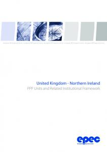 United Kingdom - Northern Ireland PPP Units and Related Institutional Framework