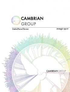 United Parcel Service. strategic report CAMBRIAN GROUP