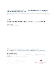 United States Antitrust Law in the Global Market