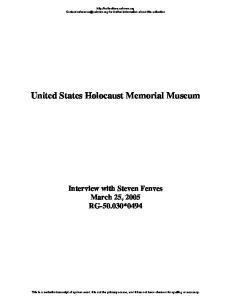 United States Holocaust Memorial Museum