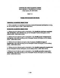 UNITED STATES MARINE CORPS FIELD MEDICAL TRAINING BATTALION Camp Lejeune, NC