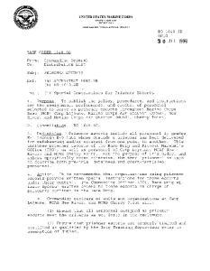 UNITED STATES MARINE CORPS MARINE CORPS BASE PSC BOX (1) Special Instructions for Prisoner Escorts
