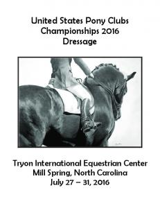 United States Pony Clubs Championships 2016 Dressage
