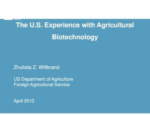United States US Department of Agriculture. Foreign Agricultural Service