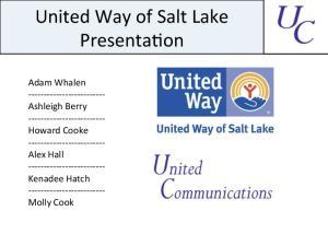 United Way of Salt Lake Presenta4on