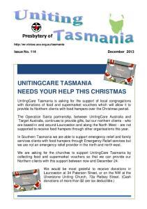 UNITINGCARE TASMANIA NEEDS YOUR HELP THIS CHRISTMAS