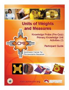 Units of Weights and Measures
