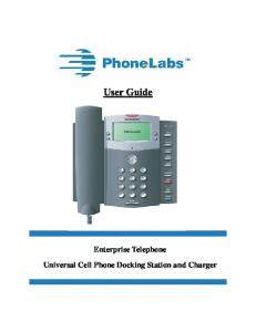 Universal Cell Phone Docking Station and Charger