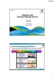 Universal Messaging Backbone