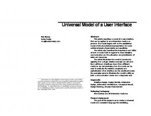 Universal Model of a User Interface