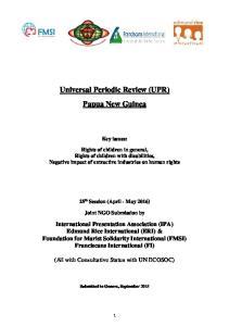 Universal Periodic Review (UPR) Papua New Guinea