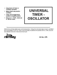 UNIVERSAL TIMER - OSCILLATOR