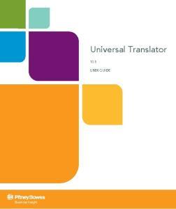 Universal Translator 10.5 USER GUIDE