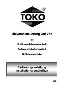 Universalsteuerung 230 Volt