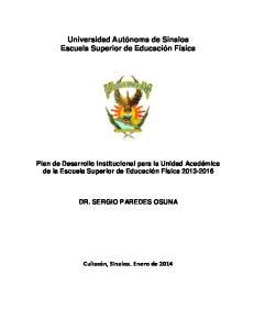 Universidad Autónoma de Sinaloa Escuela Superior de Educación Física