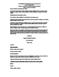 UNIVERSIDAD BICENTENARIA DE ARAGUA CONTABILIDAD II TEMA: CUENTAS Y EFECTOS POR COBRAR PROF. NICOLAS RAMOS Que son Cuentas y Documentos por Cobrar