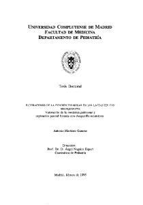 UNIVERSIDAD COMPLUTENSE DE MADRID FACULTAD DE MEDICINA DEPARTAMENTO DE PEDIATRIA