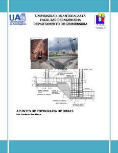 UNIVERSIDAD DE ANTOFAGASTA FACULTAD DE INGENIERIA DEPARTAMENTO DE GEOMENSURA