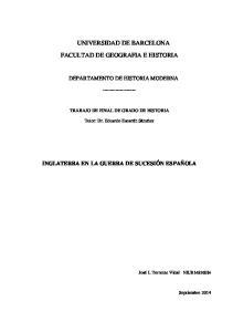 UNIVERSIDAD DE BARCELONA FACULTAD DE GEOGRAFIA E HISTORIA