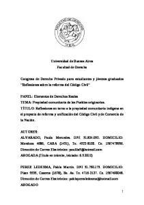 Universidad de Buenos Aires Facultad de Derecho