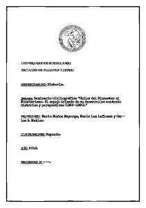 UNIVERSIDAD DE BUENOS AIRES FACULTAD DE FILOSOFIA Y LETRAS. DEPARTAMENTO: Historia