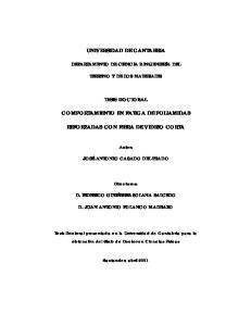 UNIVERSIDAD DE CANTABRIA COMPORTAMIENTO EN FATIGA DE POLIAMIDAS REFORZADAS CON FIBRA DE VIDRIO CORTA