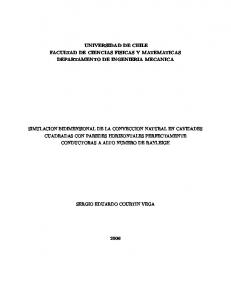 UNIVERSIDAD DE CHILE FACULTAD DE CIENCIAS FISICAS Y MATEMATICAS DEPARTAMENTO DE INGENIERIA MECANICA