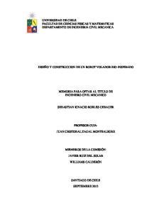 UNIVERSIDAD DE CHILE FACULTAD DE CIENCIAS FISICAS Y MATEMATICAS DEPARTAMENTO DE INGENIERIA CIVIL MECANICA