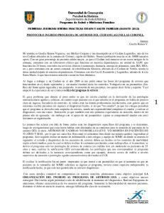 Universidad de Concepción Facultad de Medicina Departamento de Salud Pública Programa de Salud y Medicina Familiar