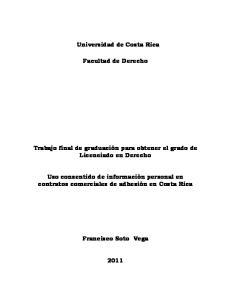 Universidad de Costa Rica. Facultad de Derecho