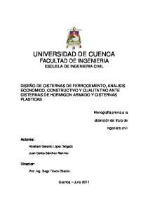 UNIVERSIDAD DE CUENCA FACULTAD DE INGENIERIA ESCUELA DE INGENIERIA CIVIL
