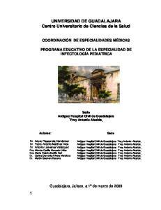 UNIVERSIDAD DE GUADALAJARA Centro Universitario de Ciencias de la Salud