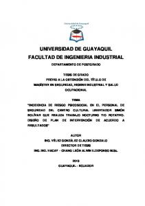UNIVERSIDAD DE GUAYAQUIL FACULTAD DE INGENIERIA INDUSTRIAL