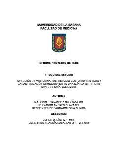 UNIVERSIDAD DE LA SABANA FACULTAD DE MEDICINA
