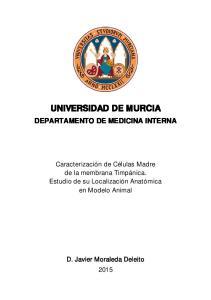 UNIVERSIDAD DE MURCIA DEPARTAMENTO DE MEDICINA INTERNA