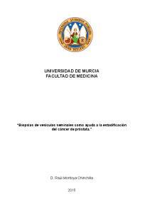 UNIVERSIDAD DE MURCIA FACULTAD DE MEDICINA