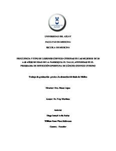 UNIVERSIDAD DEL AZUAY FACULTAD DE MEDICINA ESCUELA DE MEDICINA