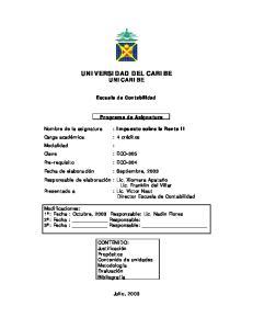 UNIVERSIDAD DEL CARIBE UNICARIBE