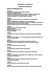 UNIVERSIDAD LE CORDON BLEU COMISION ORGANIZADORA
