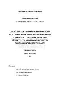 UNIVERSIDAD MIGUEL HERNANDEZ FACULTAD DE MEDICINA DEPARTAMENTO DE PATOLOGIA Y CIRUGIA