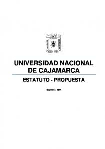 UNIVERSIDAD NACIONAL DE CAJAMARCA ESTATUTO - PROPUESTA