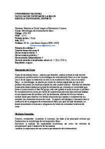 UNIVERSIDAD NACIONAL FACULTAD DE CIENCIAS DE LA SALUD ESCUELA CIENCIAS DEL DEPORTE
