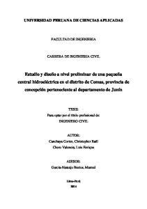 UNIVERSIDAD PERUANA DE CIENCIAS APLICADAS FACULTAD DE INGENIERIA CARRERA DE INGENIERIA CIVIL
