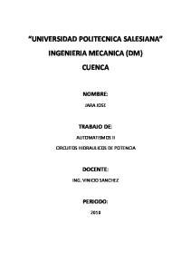 UNIVERSIDAD POLITECNICA SALESIANA INGENIERIA MECANICA (DM) CUENCA