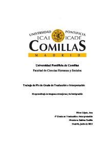 Universidad Pontificia de Comillas Facultad de Ciencias Humanas y Sociales