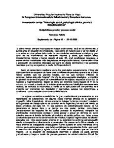 Universidad Popular Madres de Plaza de Mayo IV Congreso Internacional de Salud mental y Derechos humanos