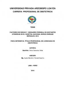 UNIVERSIDAD PRIVADA ARZOBISPO LOAYZA