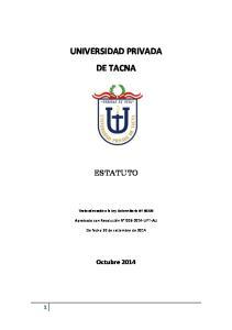 UNIVERSIDAD PRIVADA DE TACNA