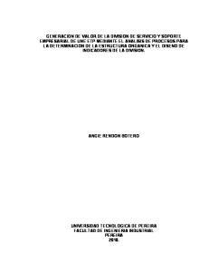 UNIVERSIDAD TECNOLOGICA DE PEREIRA FACULTAD DE INGENIERIA INDUSTRIAL PEREIRA